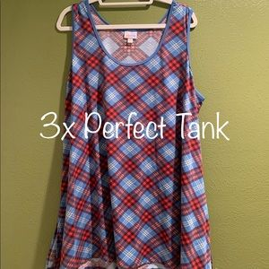 LuLaRoe plaid Perfect Tank
